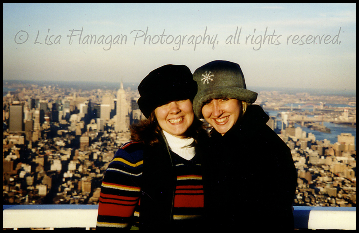 Best friends on top of the world - WTC NOV 1999