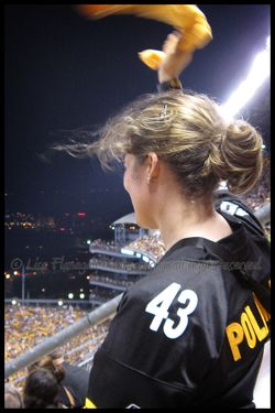 terrible towel waving girl